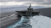 Video màn trình diễn ngoạn mục của tàu sân bay Mỹ trên Đại Tây Dương