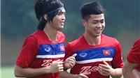 Tuấn Anh rạng rỡ bên Công Phượng ngày trở lại U22 Việt Nam