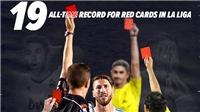 Ramos lập kỉ lục về số thẻ đỏ phải nhận ở Liga