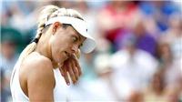Kerber bị loại ở Wimbledon 2017, sẽ mất ngôi số một WTA