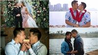 Những nụ hôn ngọt ngào của các cặp đôi đồng tính showbiz 'đốn tim' cộng đồng LGBT