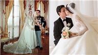 Váy cưới Hoa hậu Đặng Thu Thảo được truyền cảm hứng từ váy cưới huyền thoại của Công Nương Grace Kelly?