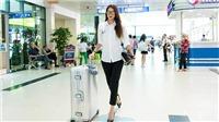 Hoa hậu Phạm Hương tươi tắn, chuẩn bị 'chiến đấu' với Minh Tú, Mâu Thủy