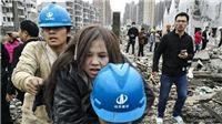 Video hiện trường vụ nổ kinh hoàng tại nhà máy Trung Quốc