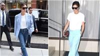 Street style áo phông trắng của Victoria Beckham suốt Tuần lễ thời trang New York 2017