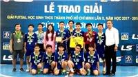 Trường Năng khiếu TDTT Quận 1 vô địch futsal TP.HCM