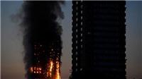 VIDEO: Vụ cháy kinh hoàng, trẻ em nhảy từ tầng 22 xuống,120 căn hộ bị thiêu rụi
