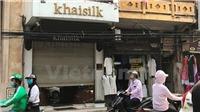 TP HCM đồng loạt kiểm tra cửa hàng Khaisilk của Hoàng Khải