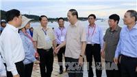 Chủ tịch nước Trần Đại Quang kiểm tra công tác khắc phục hậu quả bão số 12 tại Đà Nẵng