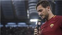 Totti khóc như mưa trong lần cuối cùng xuất hiện trên sân bóng