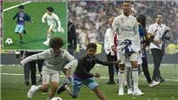 Đến Ronaldo cũng phải vỗ tay tán thưởng pha đi bóng ảo diệu của con trai