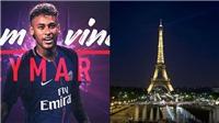 Tháp Eiffel đổi màu để chào đón Neymar. PSG 'chọc quê' Pique