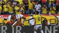 Video clip highlights bàn thắng trận Colombia 1-1 Brazil