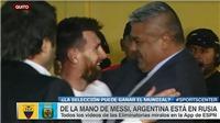 Chủ tịch LĐBĐ Argentina ôm Messi khóc nức nở sau trận gặp Ecuador