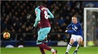 Rooney lập siêu phẩm từ giữa sân, ghi hat-trick cho Everton