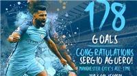 Man City phản công siêu hạng trong bàn thắng đi vào lịch sử của Aguero