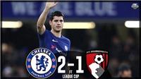 Video bàn thắng Chelsea 2-1 Bournemouth: Morata đóng vai người hùng ở phút cuối