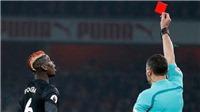Pogba bị đuổi vì phạm lỗi ác ý, nghỉ trận derby Manchester