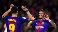 Video clip highlights bàn thắng Barca 4-0 Deportivo: Cú đúp của Suarez và Paulinho