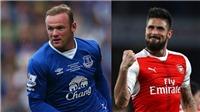 Với Rooney và Giroud, Everton sẽ tranh chức vô địch Premier League?