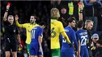 Morata và Pedro bị đuổi, 3 cầu thủ ăn vạ, Chelsea chật vật thắng luân lưu Norwich