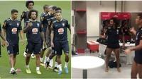 Neymar và các cầu thủ Brazil thư giãn 'cực chất' với trái bóng