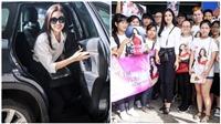Khán giả nô nức ở sân bay tiễn Đỗ Mỹ Linh lên đường đi thi Hoa hậu Thế giới