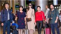 Đỗ Mỹ Linh rạng rỡ ở sân bay khi trở về từ Hoa hậu Thế giới