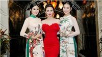 Hoa hậu Ngọc Hân trình diễn áo dài trong buổi tiệc chào mừng APEC