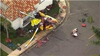 VIDEO: Trực thăng Robinson R44 đâm xuống nhà dân, 3 người thiệt mạng