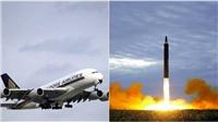 VIDEO: Hãng hàng không Singapore thay đổi lộ trình bay để 'né' tên lửa Triều Tiên