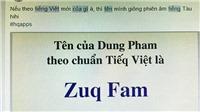 Dân mạng đua nhau 'chế' tên mình theo 'bộ tiếng Việt mới'