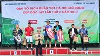 Hơn 100 triệu đồng giải thưởng ở giải quần vợt Hà Nội – Cúp Độc Lập 2017