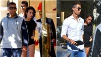 Ronaldo dẫn bạn gái đi mua sắm trước tin đồn bầu bí