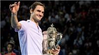TENNIS 30/10: Federer lần thứ 8 vô địch Basel, sớm từ bỏ cuộc đua lên số 1 với Nadal