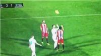 Cầu thủ Girona chơi khăm Ramos, trả thù cho Messi