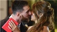 Messi và Antonella rạng rỡ trong đám cưới được ví như 'trận đấu của cuộc đời'