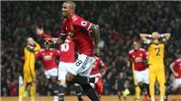 Mourinho: 'M.U không xứng đáng thắng Brighton. Đội hình quá thiên về tấn công'