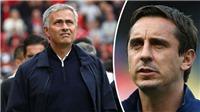 Ngược hoàn toàn với Scholes, Gary Neville bất ngờ ủng hộ Mourinho