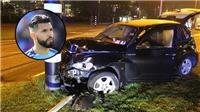 SỐC: Aguero bị tai nạn xe hơi, có thể nghỉ 2 tháng
