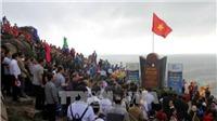 Lễ chào cờ đầu Năm mới tại mũi Đại Lãnh, nơi đón ánh Mặt trời đầu tiên trên đất liền Tổ quốc