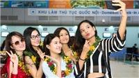 Thí sinh Hoa hậu Hoàn vũ Việt Nam khoe vẻ đẹp rạng rỡ tại Nha Trang