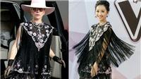 MC Quỳnh Chi 'đụng' váy hàng hiệu với Lady Gaga