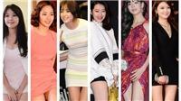 Đáng yêu kiều nữ Hàn khép nép kéo chiếc váy ngắn 'phản chủ'