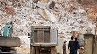 Sập mỏ đá trắng tại Nghệ An, ít nhất 3 người thương vong