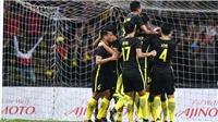 U22 Malaysia giành ngôi đầu bảng A với số điểm tuyệt đối