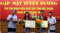 Tỉnh Bắc Giang khen thưởng các vận động viên xuất sắc tại SEA Games 29