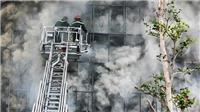 Sập tầng 1 ngôi nhà đang cháy, chiến sĩ phòng cháy chữa cháy hy sinh