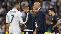 Zidane thừa nhận may mắn sở hữu Ronaldo. Simeone quyết ngược dòng
