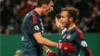 Mandzukic lập hat-trick, Bayern cho Hamburg nếm mùi 'bàn tay nhỏ'